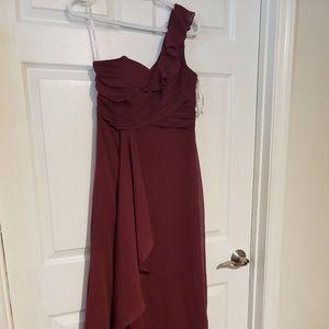 David's Bridal Wine Bridesmaid dress 8